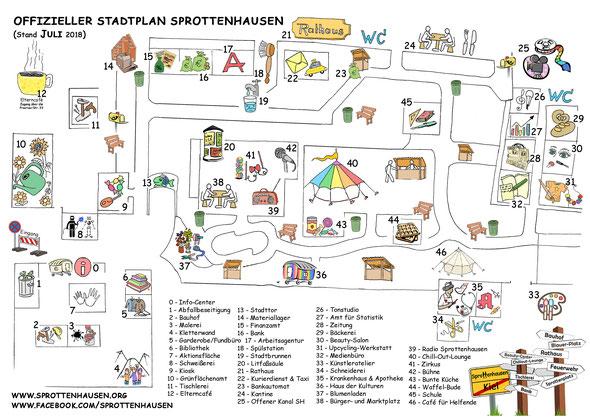 Offizieller Stadtplan - Sprottenhausen 2016