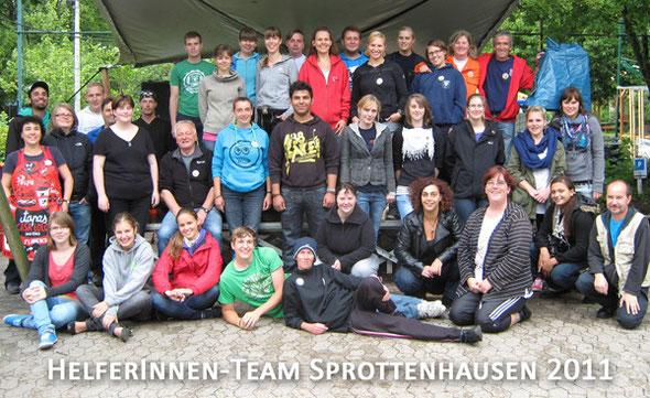 Helferinnen und Helfer im Jahr 2011