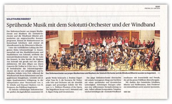 Solothurner Zeitung 26. Juni 2015