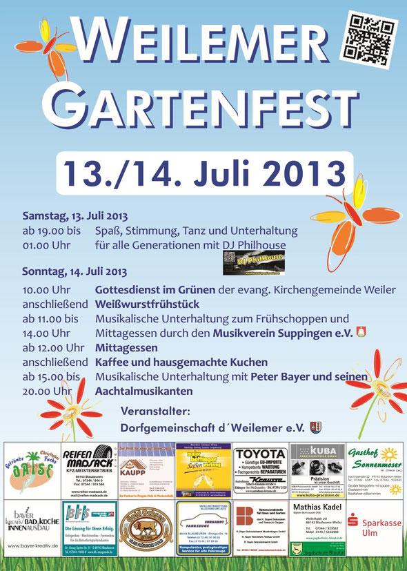 Einladung zum Weilemer Gartenfest - Dorfgemeinschaft d´ Weilemer e.V.