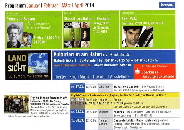 """Programm """"Kulturforum am Hafen"""""""
