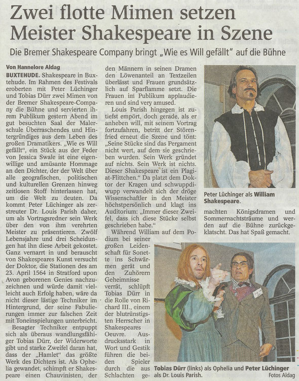 Buxtehuder Tageblatt, 26.11.2016