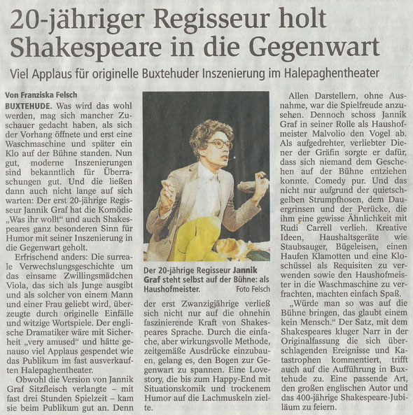 Buxtehuder Tageblatt, 14.11.2016