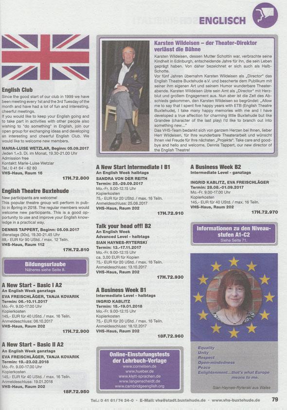 Programmheft Herbst 2017 - VHS Buxtehude
