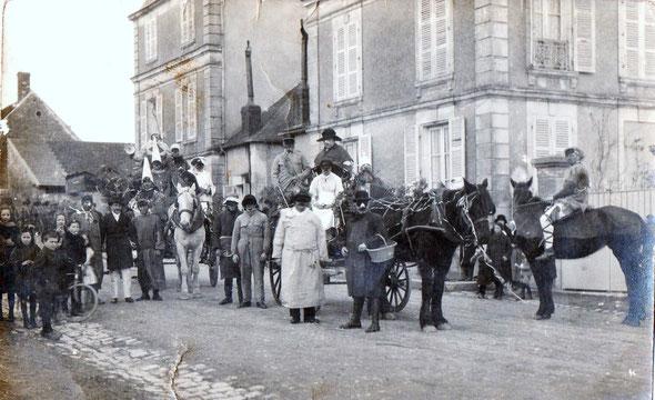 Route de Donzy entre 1910 et 1930