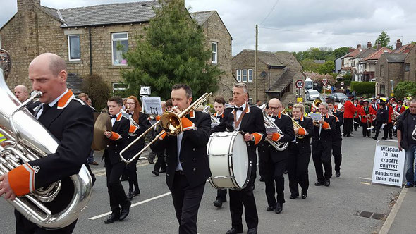 Whit Friday Marches 2016, 2nd prize at Friezland, and best 3rd/4th Section Band at Delph