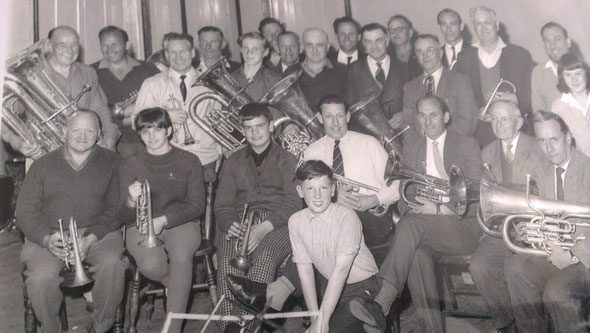 1966 Market Rasen Town Band soon after reformation