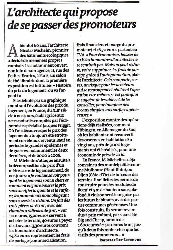 """article """"LE MONDE"""" du 8/06/2014"""