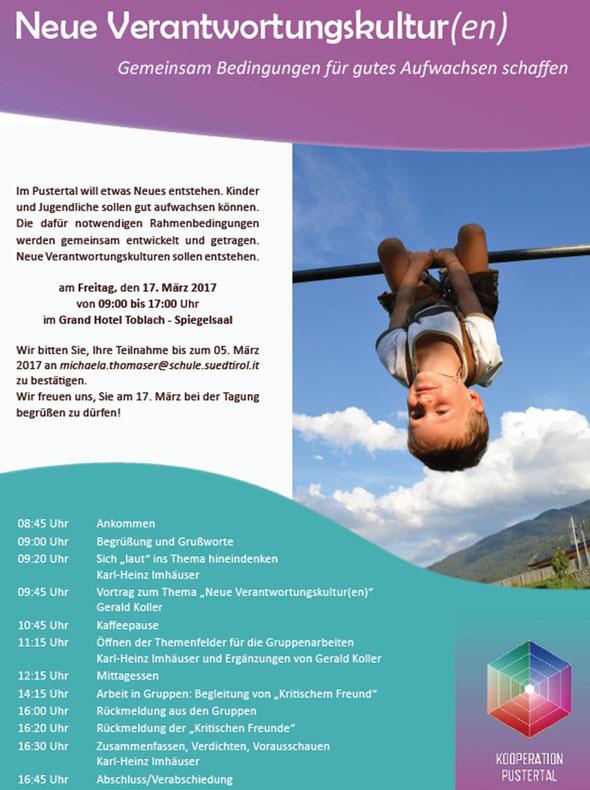 """Tagung Bündnis Kooperation am 17.03.2017 """"Neue Verantwortungskultur(en)"""""""