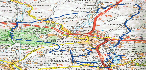 Cyclo de Bailleval - Parcours de 45 km du 10 mars 2019