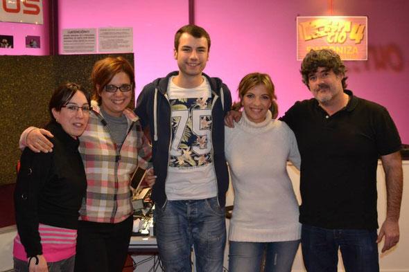 El equipo de Jóvenes 4.0 en el estudio.