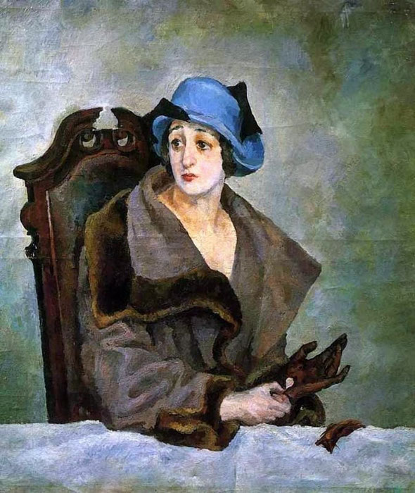 Александр Александрович Осмеркин ( 1892 - 1953). Женский портрет 1924