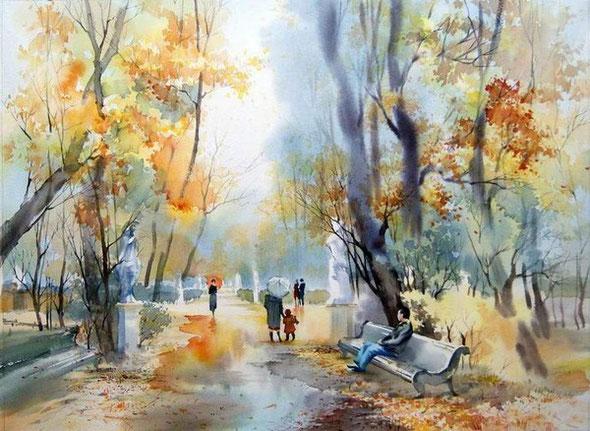 О. Алимова. Осенний парк.