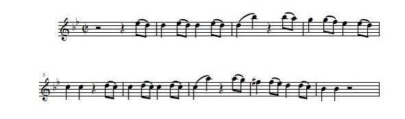モーツァルト 交響曲第40番 冒頭部分