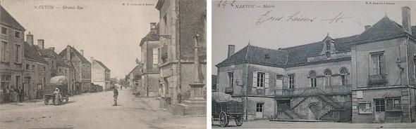La place, et la belle mairie aménagée dans l'ancienne maison d'un notaire royal.