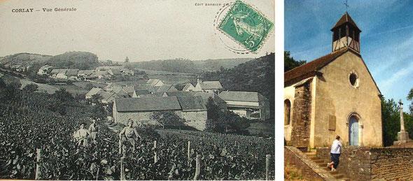 Corlay. Le village et la chapelle.