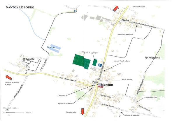 Plan du Bourg et de Chalot