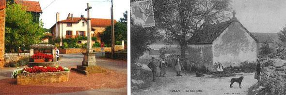 Sully le Haut. La place Saint-Nicolas, et la chapelle