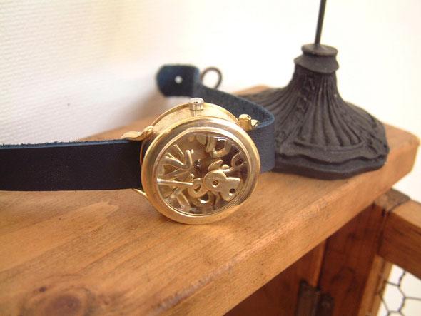 中村さんの作品(手作り腕時計)