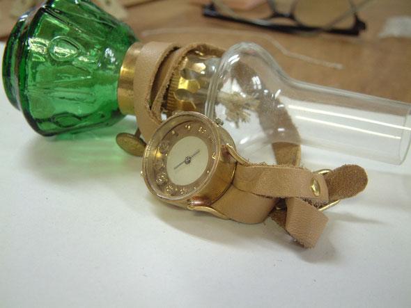 竹村さんの作品(手作り腕時計)