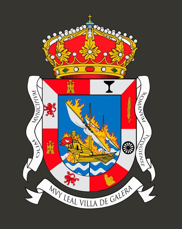 escudo oficial de Galera, Granada