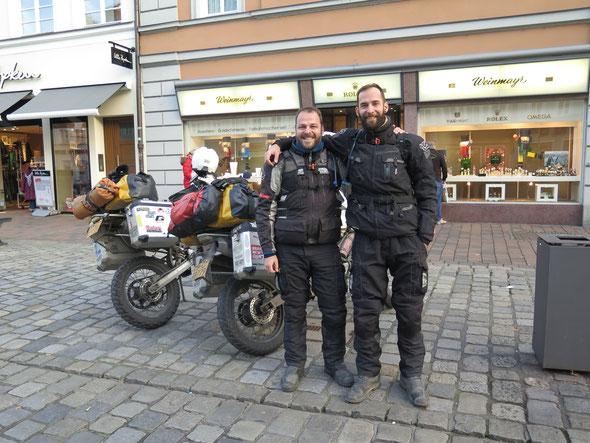 Arrival in Landshut