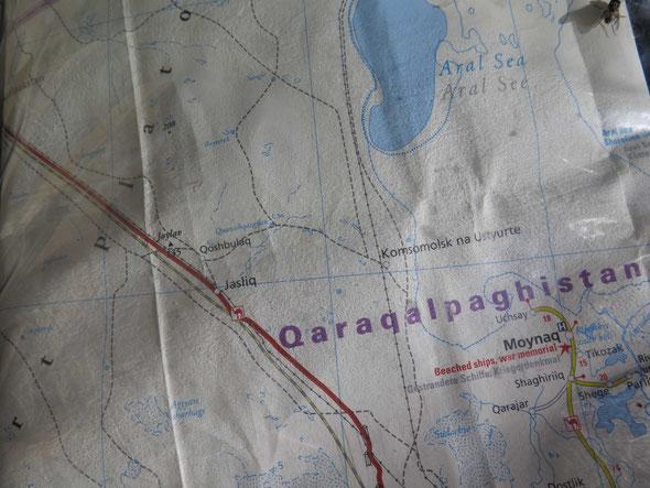 Quarakalpastan on the map