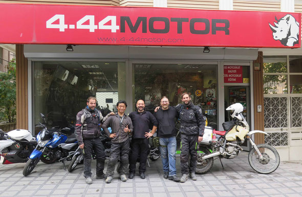 The guys from 4.44 Motor in Ankara