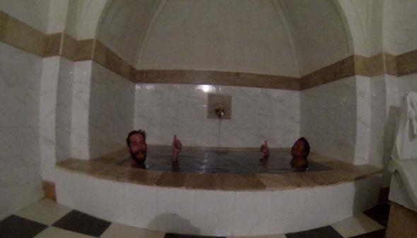 In the Sulfur bathhouse