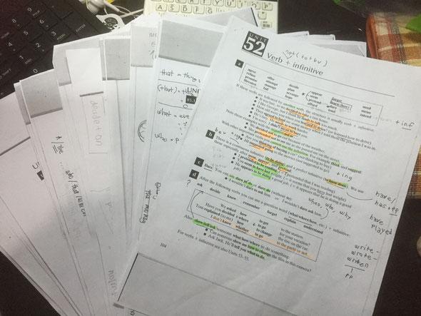 英文法と英単語をフリータイムを活用して勉強。