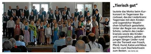 Chorkonzert Juli 2012