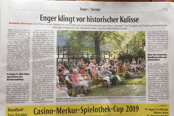 Neue Westfälische 9.8.2019