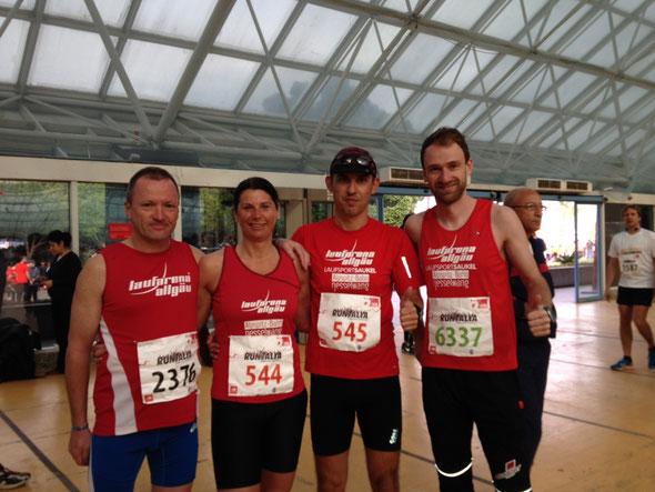 V.l.: Roland, Barbara, Markus und Thomas - erfolgreich beim Öger Antalya Marathon