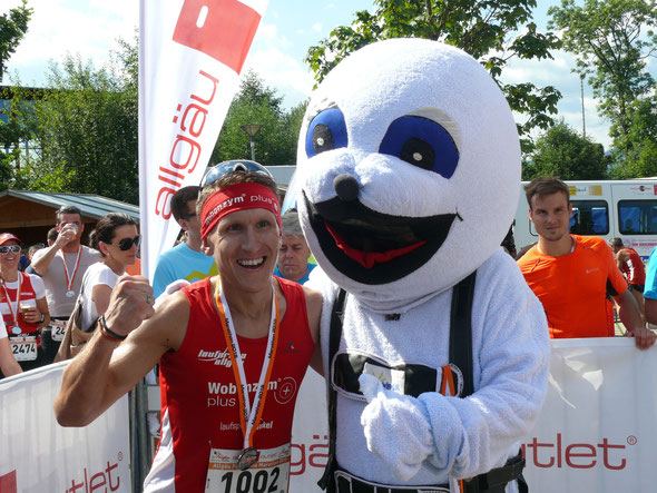 Steffen gewinnt den Allgäu Panorama Marathon in Sonthofen (Foto: Josef Gutsmiedl)