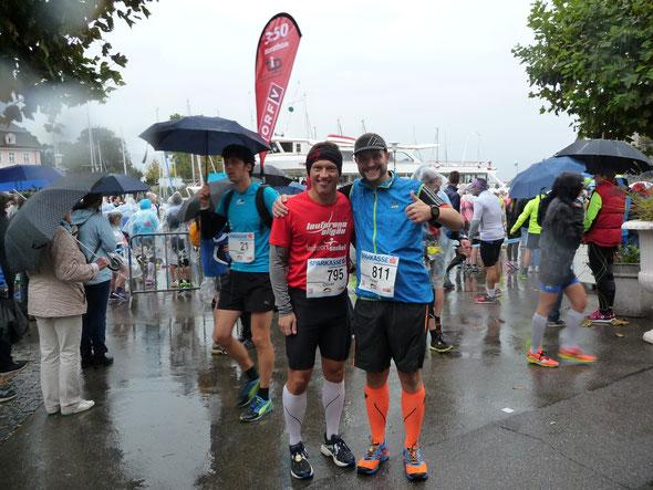 Persönliche Bestzeiten für Olilver (li.) und Peter beim 3-Länder-Marathon von Lindau über St. Margarethen nach Bregenz
