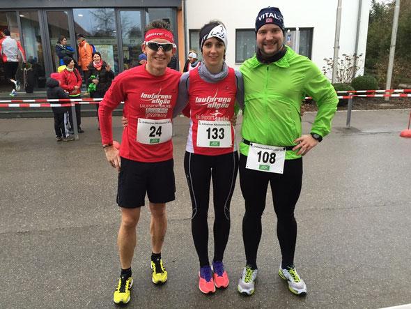 (v.l.) Steffen, Moni und Peter kurz vor dem Start und erfolgreichem Finish
