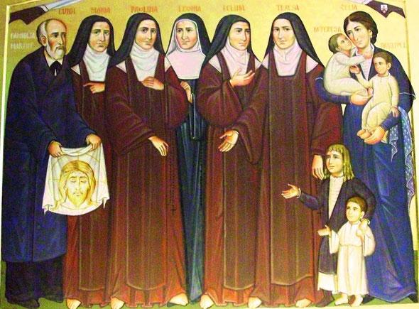 IMMAGINE PRESA DA http://basilicasantateresa.blogspot.it/2012/12/beati-luigi-e-zelia.html