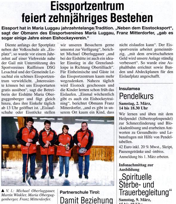 OBERKÄRNTNER VOLLTREFFER, 25. Feb. 2013