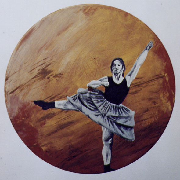 "dancer - acrylics on 12"" vinyl record - 10.04.2004"