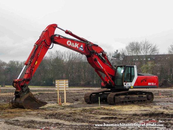 Der einzige Bagger momentan auf der Baustelle: O&K RH 12.5