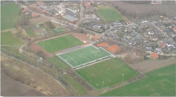 Luftbild Volksbankstadion FC Vorwärts Wettringen e.V. // 2014