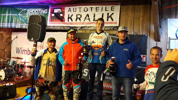Siegerehrung Kefermarkter Enduro Trophy