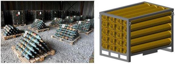 Варианты универсальных укрупненных грузовых единиц / Universal aggregated cargo units options