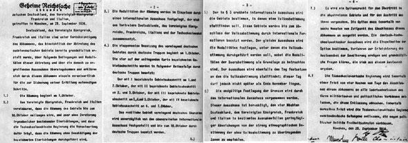 Мюнхенское соглашение 1938, текст, немецкий язык