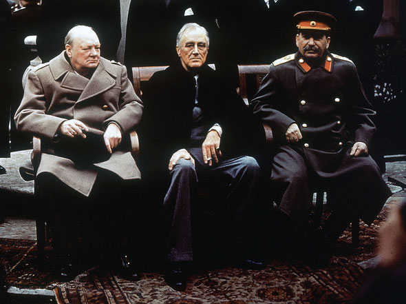 Крымская, Ялтинская конференция, 1945, Сталин, Рузвельт, Черчилль