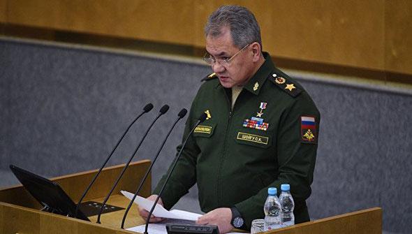 Рейхстаг в Патриоте, выступление Министра обороны Сергея Шойгу, Государственная Дума, 22 февраля