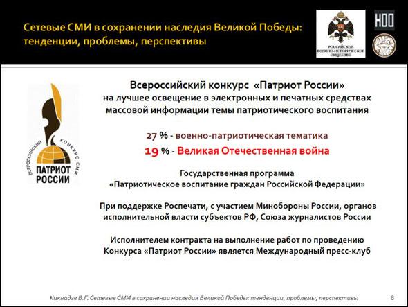 Патриот России, всероссийский конкурс СМИ, Международный пресс-клуб, Совет Федерации