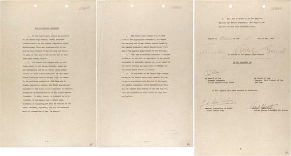 Акт о капитуляции Германии, 8.5.1945 (англ.)