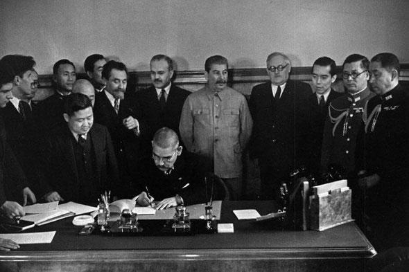 Советско-японский пакт о нейтралитете 1941, подписание в Кремле, фото