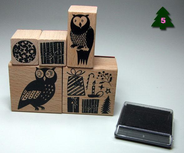 Das Eulig Weihnachtliches Stempel Set